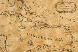 Caribbean Nautical Chart By Shawnbrown Tattoo Pirate Map