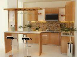 ... fancy modern home bar with diy veneer table also hanging glass racks ...