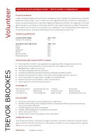 Resume Examples Volunteer Work Best Of Resume Personal Statement Best Of Volunteer Work Resume Samples 24