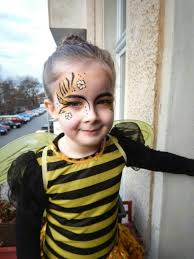 bee costume make up kostüm biene hummel ble bee fasching karneval