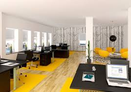 interior design for office. Artistic And Cheerful Office Interior Design With Sleek Furniture For D