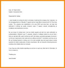 Free Letter Of Introduction Template Self Mail Email To