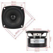 15w multimedia speakers 3 inches 6 ohms full range speakers hi fi stereo audio speakers for diy