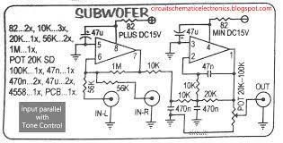 tone control wiring diagram tone wiring diagrams subwoofer modul 4558 tone control wiring diagram