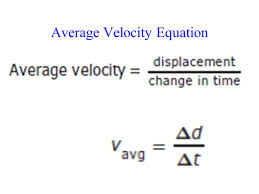 average velocity equation