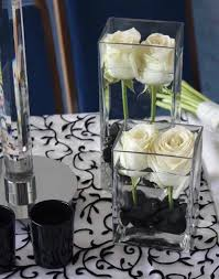 white and black reception wedding flowers, wedding decor, wedding flower  centerpiece, wedding flower arrangement, add pic source on comment and we  will ...