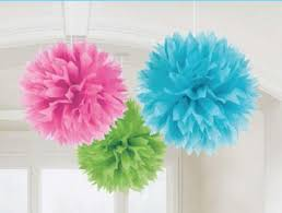 Puff Ball Decorations Nz Fascinating Pom Poms Tissue Decorations Just For Kids