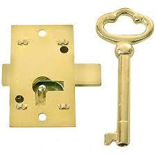 Flush Mount Cabinet Door Lock Skeleton Key