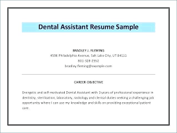 Orthodontic Assistant Cover Letter Dental Assistant Resume Cover