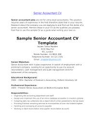 Cover Letter Senior Accountant Resume Example Sample Senior