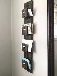 mail organizer wall mail holder wall