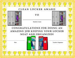 Kids Award Certificate Clean Locker Award Certificate Kids Will Love It By Twin Business