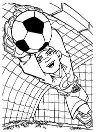 Keeper Kleurplaat раскраски Kleurplaten Voetbal En Keeper