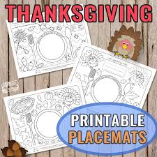 Thanksgiving placemats are a great craft for your kid, and a beautiful addition to the dinner table. Printable Thanksgiving Day Placemats Itsybitsyfun Com