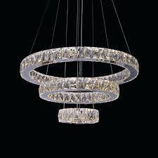 3 ring stainless steel built modern led crystal chandelier with remote control battery operated outdoor remote control chandelier battery operated outdoor