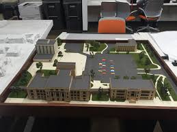 architecture students upset about equipment restrictions in new students work on detailed models cutting everything down replicate what a real building would look