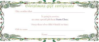 christmas certificates templates printable christmas gift certificate template