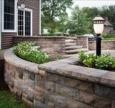 we build raised patios landings stairs in utica ny for your home raised paver patio retaining wall 4