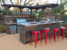 great modern outdoor furniture 15 home. Exterior: Red Barstoll Closed Tableware On Wood Table Right For Diy Outdoor Bar With Modern Great Furniture 15 Home O