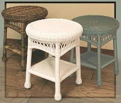 all weather wicker round end table pictured in brown white green stock 4178 152 w glass top 124 economy no glass 18 x 18 x 23