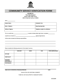 Printable Community Service Form Fill Out And Sign