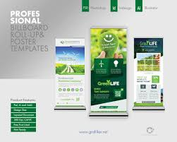 Professional Templates Professional Billboard Roll Up Templates By Grafilker On Envato Studio