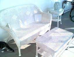 White Wicker Patio Furniture Chairs and Table Perfect White