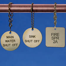 Brass Valve Tags with chains
