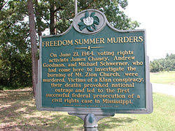 dom summer mt zion church state history marker near philadelphia mississippi