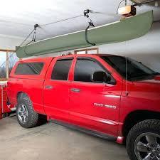 canoe hoist for garage canoe hoisted above a truck with the apex kayak and canoe hoist canoe hoist for garage diy