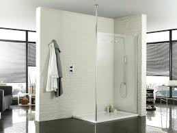 glass brick wall bathroom glass block wall of shower room combine with mosaic and brown tile