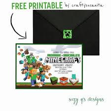 Free Minecraft Birthday Invitation Printable Lego