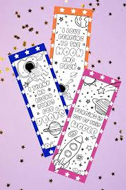The most common printable bookmarks material is paper. Printable Bookmarks To Color Space Bookmarks Made With Happy