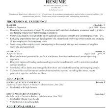 Sample Of Warehouse Resume Nice Design Warehouse Resume Template Delectable Warehouse Supervisor Resume