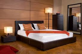 mesmerizing photography bedroom design ideas with dark brown color leather bed frames and wooden headboard also bed designs wooden bed
