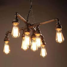 le antique bronze inch light chandelier with bulbs edison costco