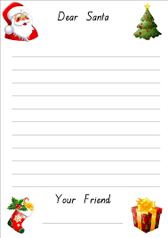 Writeer To Santa Sample Template From Your Child For Free