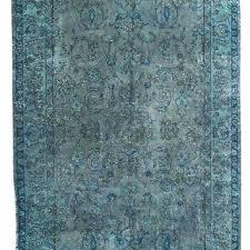 blue turkish rug ft grayish blue rug over dyed carpet vintage rug decorative modern carpet orange