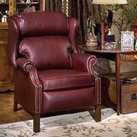 Chippendale Reclining Wing Chair 4114 from Bradington Young