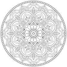 Mandala A Colorier Gratuit Fleurs Traits Reguliers Mandalas