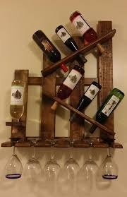 wine rack shelf glass holder distressed reclaimed wood wall mount handmade 1 of 3free