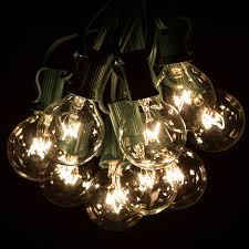 100 Foot G40 Globe Patio String Lights with Clear Bulbs for Outdoor String  Lighting (Green Wire) - - Amazon.com