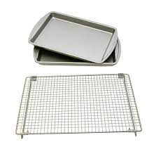cookie sheet with cooling rack baking sheet with cooling rack set of two sheets kitchen bakers