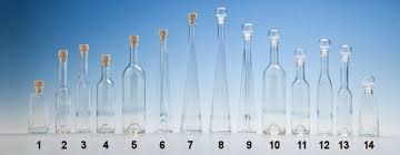 glass corked clear oil bottles with fungo cork and glass topped stopper