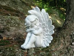 garden angel statues. Angels Statue Angel Sculpture Guardian Cherub Concrete Resting Eyes Garden Statues P