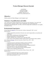 Product Marketing Manager Resume Example Examples Of Resumes