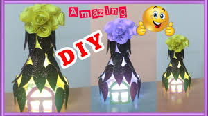 Diy Amazing Plastic Bottle Lamp Home Decor Best Out Of Waste Craft