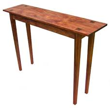 shaker hall table. In Another Subtle Shift From Shaker Design Principles, Inlays Of The Endgrain Legs Were Placed Table Top, Response To Client\u0027s Hall R