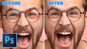 How To Remove Flash Light In Eyes How To Remove Reflections From Glasses In Photoshop