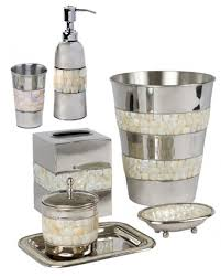 Bathroom Beach Accessories Need To Update Your Bathroom Try This Mother Of Pearl And Nickel